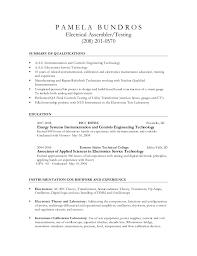 UPDATED Electrical Assembler Resume Inspiration Assembler Resume