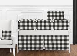 buffalo check black and white crib bedding