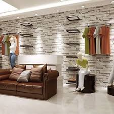 3D Wallpaper Bedroom Mural Modern Stone Brick Wall Paper Background  Textured 10M