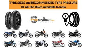 Recommended Tire Psi Chart Indian Bike Tyre Sizes And Their Recommended Tyre Pressure