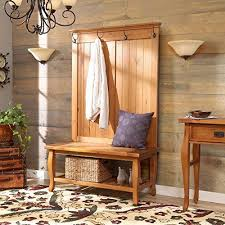 Country Style Coat Rack Simple Rustic Country Style Hall Tree Accent Your Home with Natural 34
