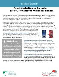 Facts About Vending Machines In Schools Classy School Fundraising Fact Sheet Don't Sell Us Short