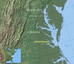 jamestown, virginia familypedia fandom powered by wikia Map Of Voyage From England To Jamestown location in virginia England to Jamestown VA Map