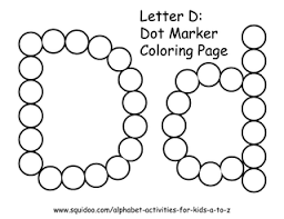 Small Picture letter d dot marker coloring page 1 photo by roamingrosie