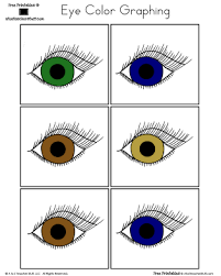 Small Picture Eye Color Graphing A to Z Teacher Stuff Printable Pages and