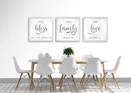 modern farmhouse wall decor dining room