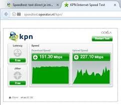 Snelheid testen internet kpn