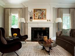Living Room With A Fireplace Contemporary Living Room With Stone Fireplace By David Scott