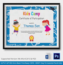 Microsoft Word Certificate Templates Kids Thank You Certificate