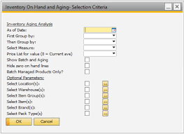 Aging Analysis Inventory On Hand And Aging Orchestrated Help Center