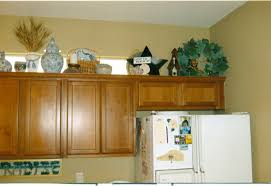 Over Cabinet Decor Decorating Above Kitchen Cabinets Cabinet Ideas Amys Office