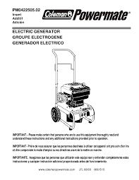 coleman generator service manual just another wiring diagram blog • coleman powermate generator manuals rh home appliance needmanual com coleman 5000 generator manual powermate 6250 owner s