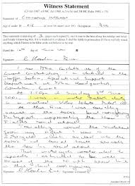 Police Witness Statement Template Sample Example Police