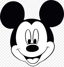 Mickey Mouse Face Black And White - Novocom.top