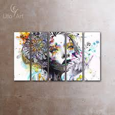 Living Room Canvas Paintings 2017 Canvas Art Modern Abstract Europe Women Portrait Canvas