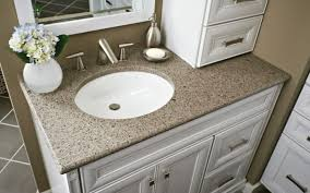 olive ovation natural quartz vanity top with denova