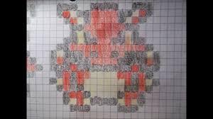 Graph Paper Pixel Drawing Of The Gbc Pokemon Menu Sprites Part 6 Of