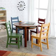 lipper childrens walnut round table and  chairs  childrens table