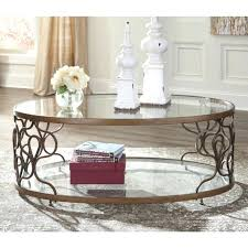 ashley coffee table cfee round glass with 4 stools signature design by canaan trunk lift top