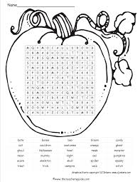 pumpkinhalloweenwordsearchttg halloween printouts from the teacher's guide on word search worksheets free