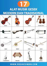 Alat musik melodis adalah alat musik yang biasanya membunyikan melodi pada suatu lagu, pada umumnya alat musik ini tidak bisa memainkan kord secara sendirian. 17 Alat Musik Gesek Lengkap Gambar Dan Penjelasan Redaksiweb