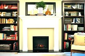 faux stone fireplace fake