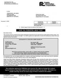 dept collection letter guidelines for debt collection letters