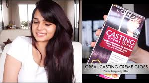 Loreal Casting Colour Chart How To Color Your Hair At Home Loreal Casting Creme Gloss Plum Burgandy 316
