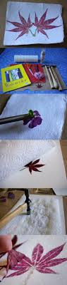 hammered flower and leaf prints flowers or leaves watercolor paper or other rough paper