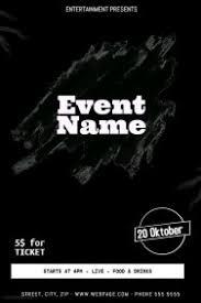 flyer backgr black customizable design templates for black event flyer template