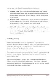 steps to make money as lance writer types of article lancers 7