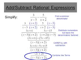 simplifying rational expressions addition and subtraction ppt