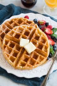 Light Fluffy Waffles Belgian Waffle Recipe