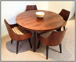 mid century modern round dining table and chairs chairs