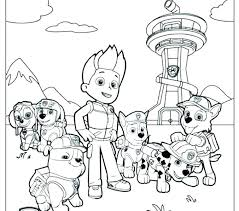 Coloring Pages Coloring Pages To Print Paw Patrol Rubble Birthday