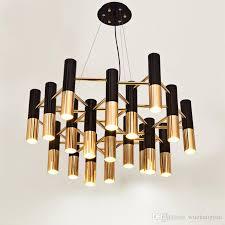 delightfull ike metal led chandelier lamp light modern black gold suspension hanging light lamp for living dinning room globe pendant light light