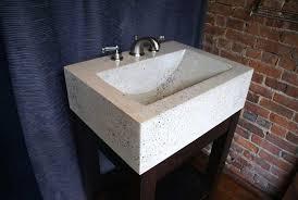 bathroom featuring stonehenge countertop bathroom featuring stonehenge countertop white concrete vanity sink