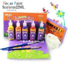 diy washable baby finger painting water colors set for kids children watercolor paint 5 colors 22ml