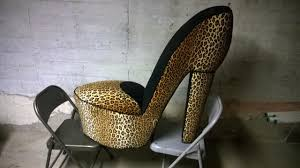 Leopard Chairs Living Room Leopard Shoe Chair Furniture For Cool Living Room Interior Design