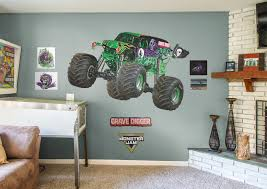 grave digger huge officially licensed monster truck removable wall decal fathead wall decal