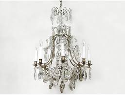 crystal chandelier lights forged iron cut 8 pendants stars late nineteenth century