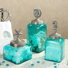 Sealife Glass Canister Set Aqua Set Of Three My Style Home