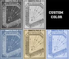 Ebbets Field Seating Chart Print Of Vintage Ebbets Field Seating Chart On Photo Paper