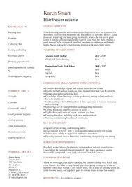 Cosmetology Resume Template. Student Resume Targeted At A