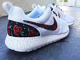 nike shoes roshe galaxy. custom nike roshe run rose design, floral roshe, gold red shoes galaxy p