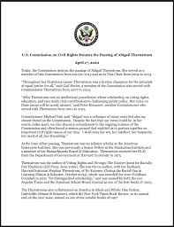 """USCCR on Twitter: """"Commission News: """"April 17, 2020 - U.S. Commission on  Civil Rights Mourns the Passing of Abigail Thernstrom""""… """""""