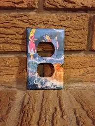 cinderella and fairy mother electrical outlet cover cinderella decoration cinderella nursery cinderella mother cin13