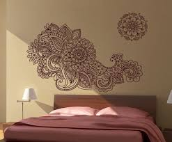 henna stencil decal oriental wall decor on paisley wall art stencil with henna stencil decal oriental wall decor moonwallstickers