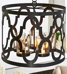 quatrefoil light fixture tea light chandelier candle holder w chain hanger geometric design quatrefoil flush mount light fixture