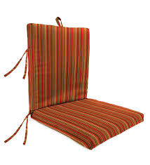 sunbrella classic high back chair cushion with ties 46 x 20 x